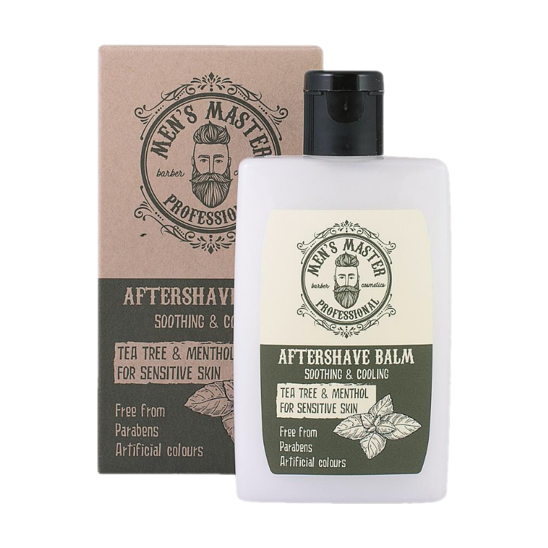 Bálsamo Aftershave ''Árbol del té y Mentol'' MEN'S MASTER (120 ml)